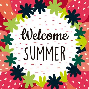 Welcome summer background vector